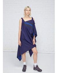 132 5. Issey Miyake - Navy / Blue Asymmetrical Tie Dress - Lyst