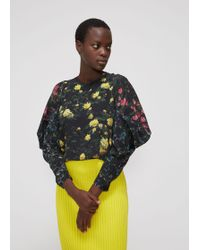 Anntian - Butterfly Sleeve Cropped Blouse - Lyst
