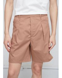 Lemaire - Light Twill Elasticated Shorts - Lyst
