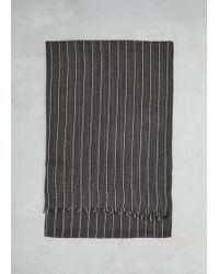 Hope - Black Stripe Cover Scarf - Lyst