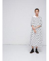 Comme des Garçons - Belted Polka Dot Dress - Lyst