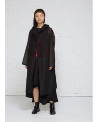 Yohji Yamamoto - Panelled Coat With Hood - Lyst