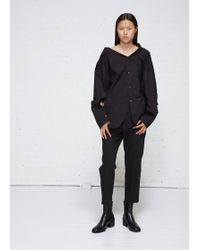 Ji Oh - Unbalanced Neck Shirt - Lyst