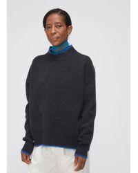Marni - Wool Nylon Mohair Tipped Crewneck - Lyst
