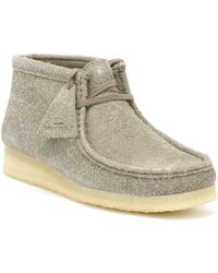 Clarks - Originals Womens Grey Interest Wallabee Boots - Lyst
