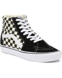 vans checkerboard sk8 hi lite