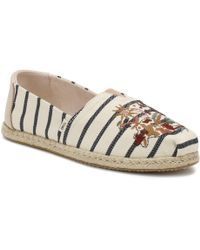 TOMS - Womens Multi-colour Floral Embroidery Espadrilles - Lyst