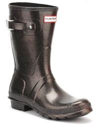 HUNTER - Original Womens Orange Short Starcloud Boots - Lyst