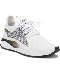 PUMA Mens White / Black Tsugi Netfit V2 Sneakers