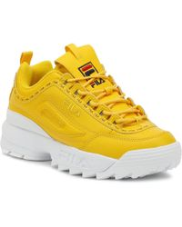 Fila - Disruptor Ii Premium Repeat Womens Citrus Yellow Trainers - Lyst