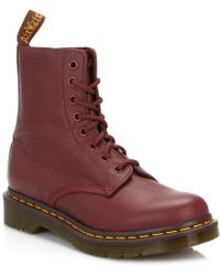 Dr. Martens - Dr. Martens Womens Cherry Red Pascal Virginia Leather Boots - Lyst