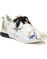 Ted Baker - Womens White Cepap Trainers - Lyst