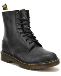 Dr. Martens - Dr. Martens Womens Black Burnished Wyoming Serena Boots - Lyst