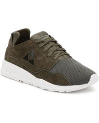 Le Coq Sportif - Mens Olive Night Mono Luxe Lcs R Trainers - Lyst