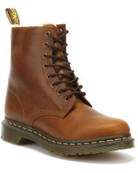 Dr. Martens - Dr. Martens 1460 Serena Womens Butterscotch Brown Boots - Lyst