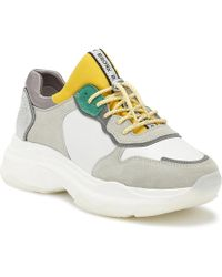 Bronx - Womens White / Yellow / Silver Baisley Chunky Trainers - Lyst