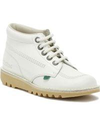 Kickers - Kick Hi Boots - White White - Lyst