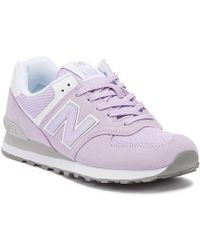 New Balance Womens 574 Lilac Classic Trainers - Purple