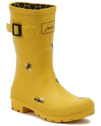 Joules - Womens Gold Botanical Bees Molly Wellies - Lyst
