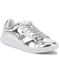 Ellesse - Womens Silver Anzia Metallic Trainers - Lyst