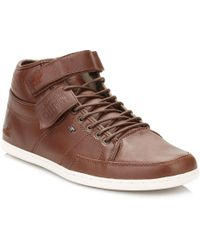 Boxfresh - Box Fresh Mens Chestnut/taupe Swich Premium Leather Trainers - Lyst