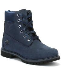 Timberland - 6 Inch Premium Womens Blue Waterbuck / Satin Boots - Lyst