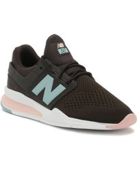 New Balance - Womens Americano Grey / Himalayan Pink 247 Sport Trainers - Lyst