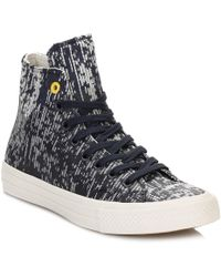 Converse - All Star Chuck Taylor Ii Mens Blue Hi Top Rubber Trainers - Lyst