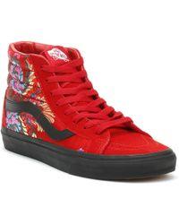 ffc5cbbbb7 Vans - Sk8-hi Reissue Festival Satin Womens Red Trainers - Lyst