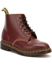 Dr. Martens   Dr. Martens Mens Oxblood Archive 101 Vintage Boots   Lyst