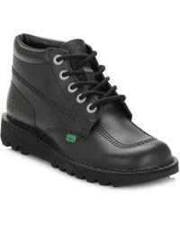 Kickers - Kick Hi Boots Black Leather - Lyst