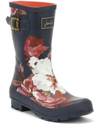 Joules - Womens Navy Bircham Bloom Molly Wellies - Lyst