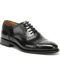 Loake - 201b Brogue Mens Black Shoes - Lyst