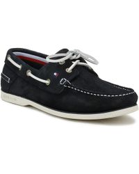 Tommy Hilfiger - Mens Midnight Navy Classic Suede Boat Shoe - Lyst