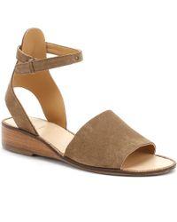 Hudson Jeans - Womens Beige Suede Fifa Sandals - Lyst