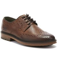 Barbour Ouse Mens Tan Brogue Shoes - Brown