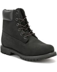 Timberland - Womens 6 Inch Premium Black Nubuck Leather Boots - Lyst