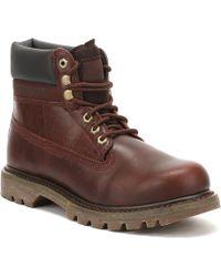 Caterpillar - Mens Burgundy Colorado Boots - Lyst
