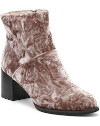 Shoe The Bear - Ceci Womens Deep Blush Brown Velvet Boots - Lyst