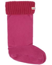 HUNTER - Pink Original Half Cardigan Boot Socks - Lyst