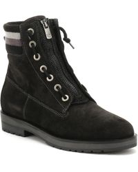 Tommy Hilfiger - Womens Black West 9b1 Ankle Boots Women's Low Ankle Boots In Black - Lyst