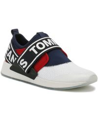 e8d299159a7786 Lyst - Tommy Hilfiger Mens White Icon Sport Flexi Trainers in White ...