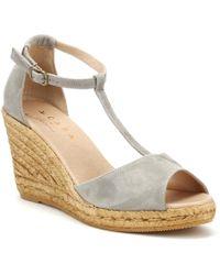 Cara - Womens Cinder Grey Gota Wedge Sandals - Lyst