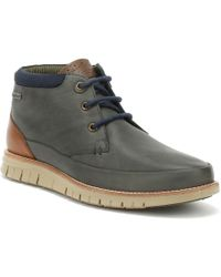 Barbour - Mens Navy Nelson Boots - Lyst