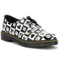 Dr. Martens - Dr. Martens Black / Playing Card Backhand 1461 Shoes - Lyst