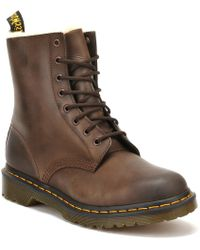 Dr. Martens Dr. Martens 1460 Serena Fur Lined Womens Dark Brown Boots