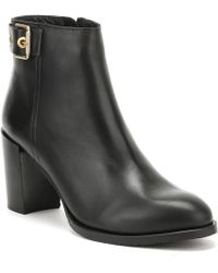 Tommy Hilfiger - Womens Black Penelope 18a Ankle Boots Women's Low Ankle Boots In Black - Lyst
