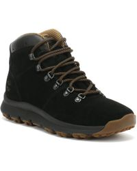 Timberland - World Hiker Mid Black Suede Mens Hiking Boots - Lyst