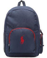 Ralph Lauren - Navy/red Campus Backpack - Lyst