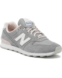 New Balance - Womens 996 Grey Classic Trainers - Lyst